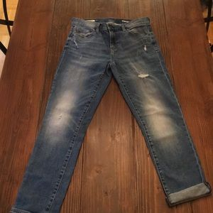 Gap Girlfriend Jeans 27r distressing